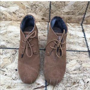 TOMS Women's 300513 Desert Sz9 Brown Ankle Booties